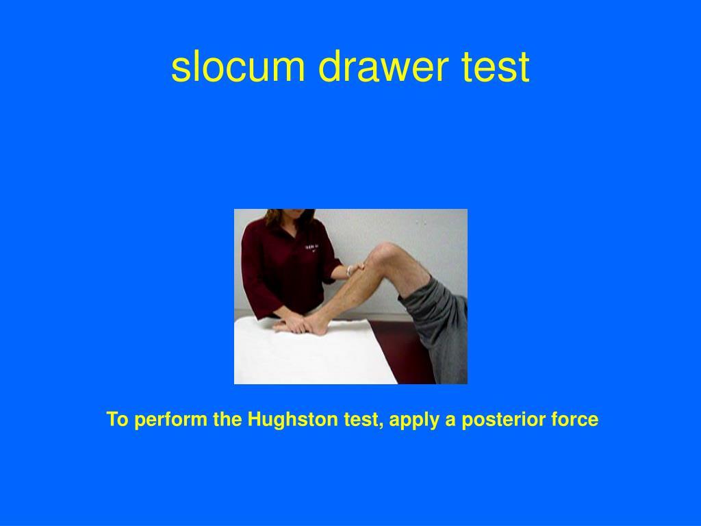 slocum drawer test