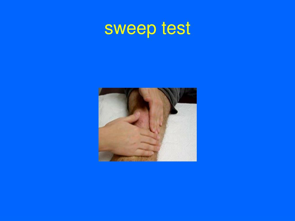 sweep test