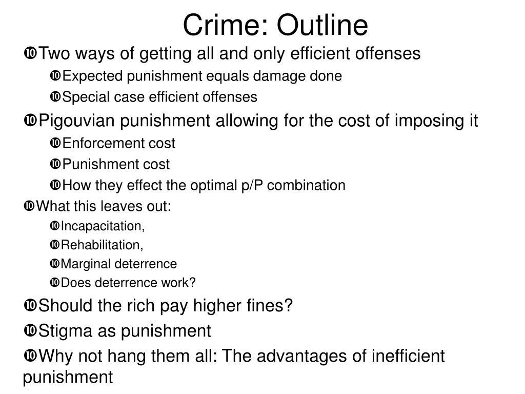 Crime: Outline
