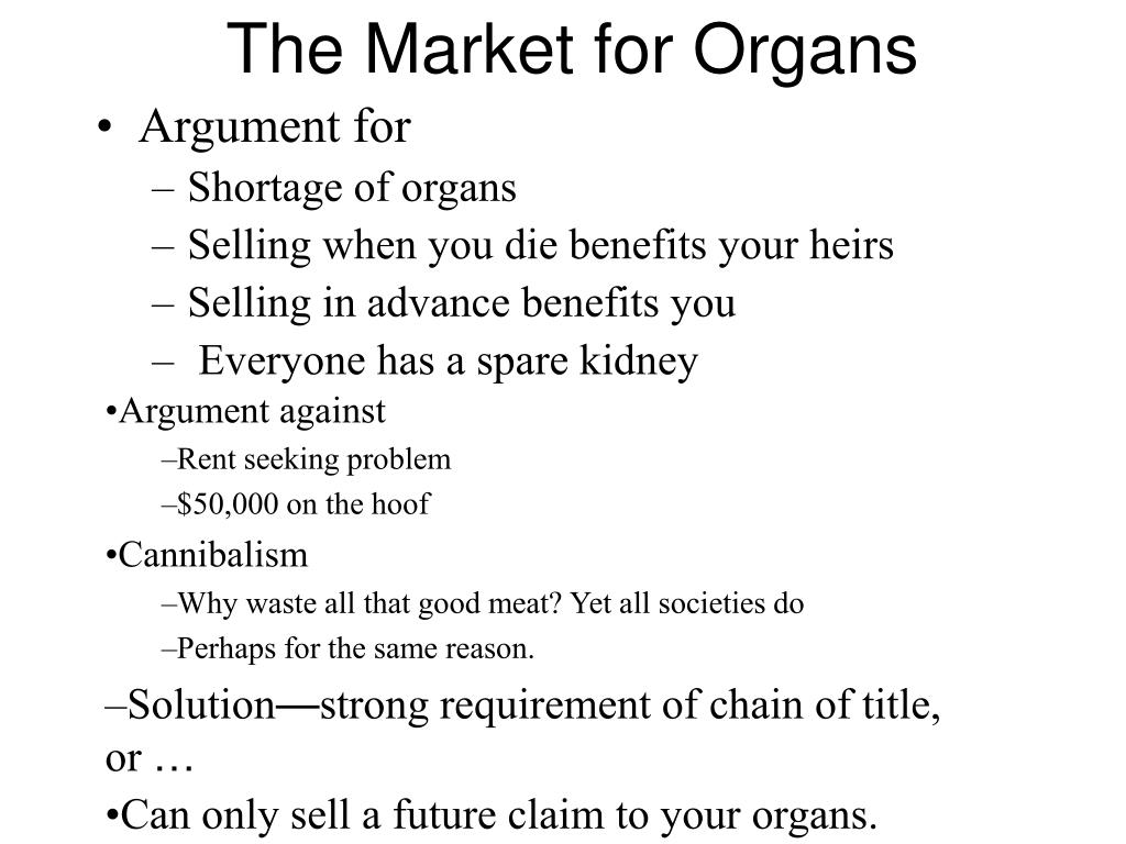 The Market for Organs