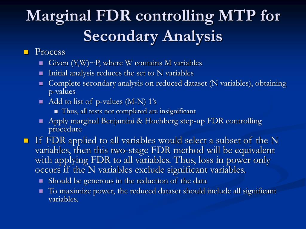 Marginal FDR controlling MTP for Secondary Analysis