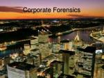 corporate forensics