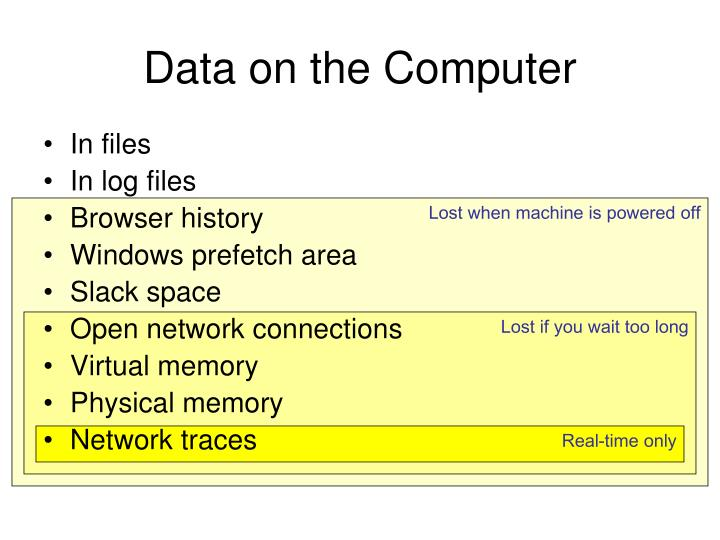 Data on the Computer