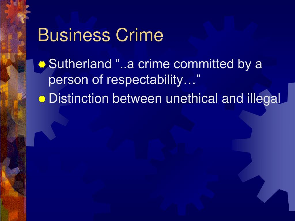 Business Crime