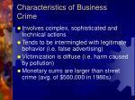 characteristics of business crime