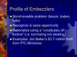profile of embezzlers