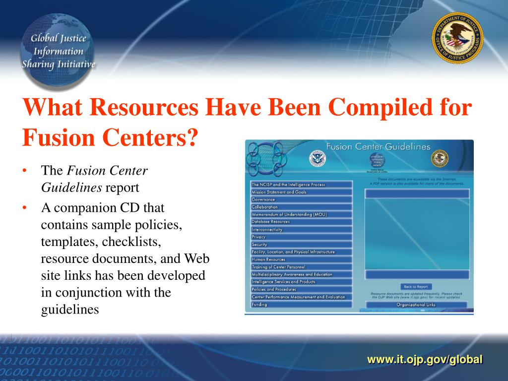 What Resources Have Been Compiled for Fusion Centers?