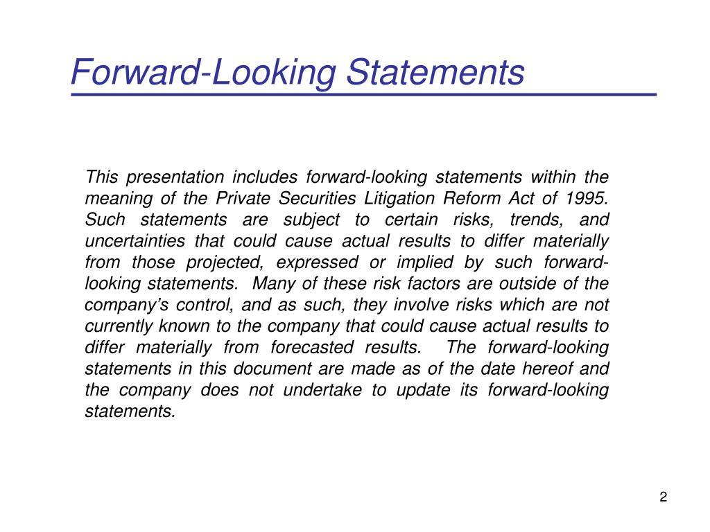 Forward-Looking