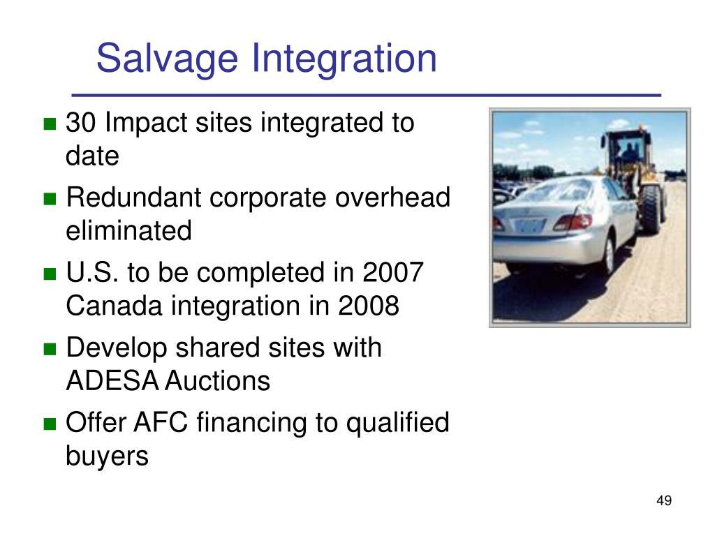 Salvage Integration