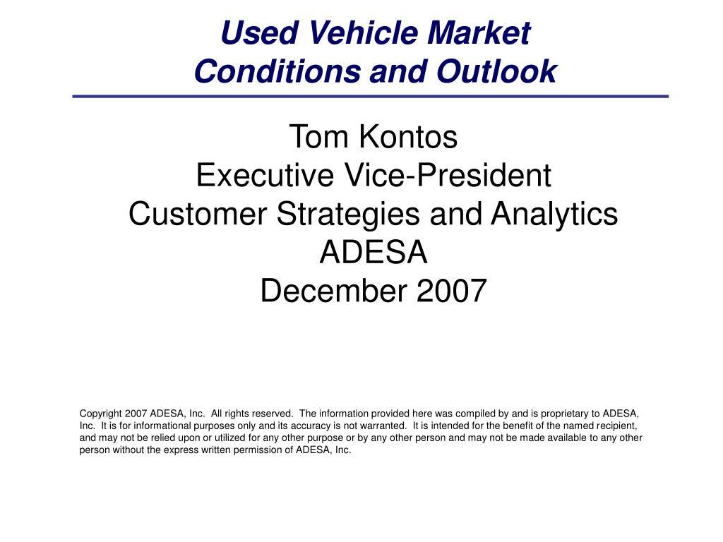 Used Vehicle Market