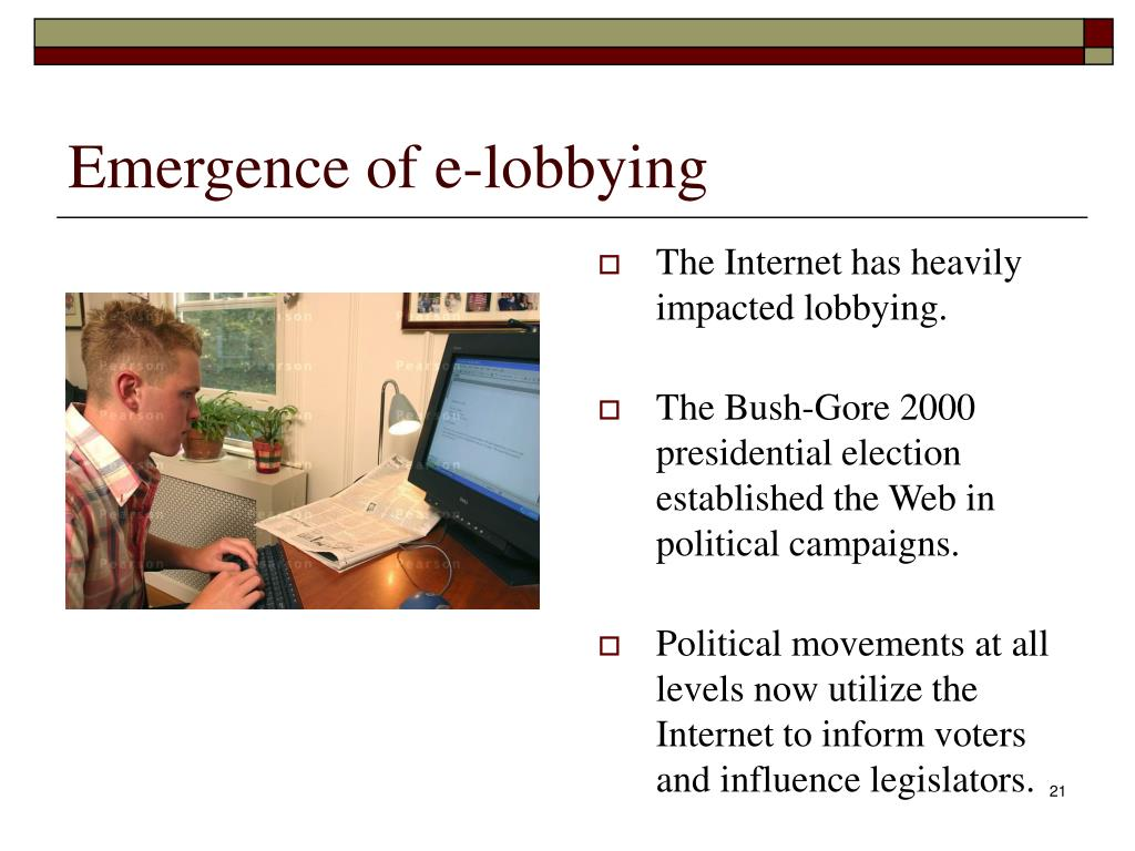 Emergence of e-lobbying