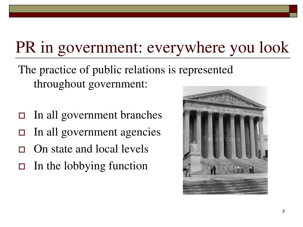 PR in government: everywhere you look