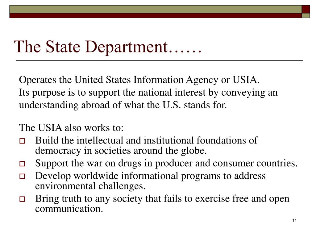 The State Department……