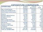 expenditure comparison