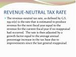revenue neutral tax rate