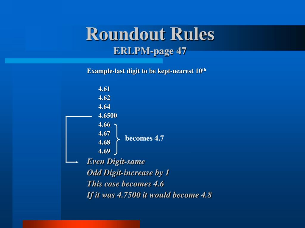Roundout Rules
