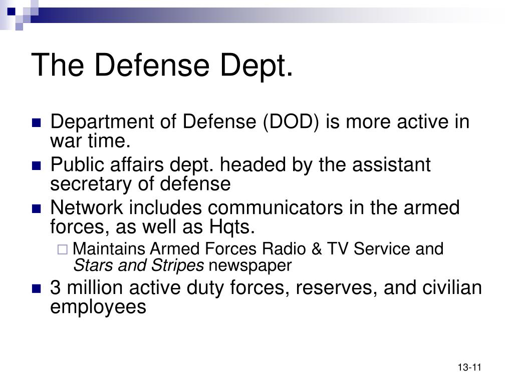 The Defense Dept.