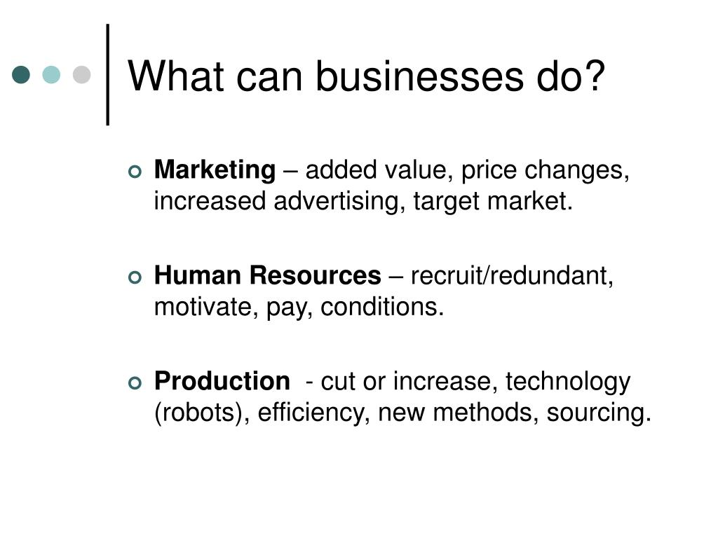 What can businesses do?