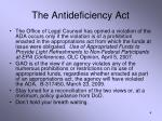the antideficiency act