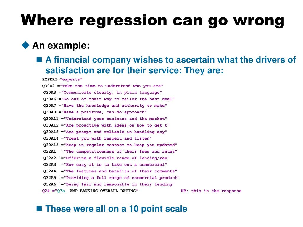 Where regression can go wrong