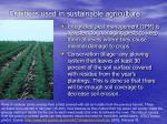 practices used in sustainable agriculture