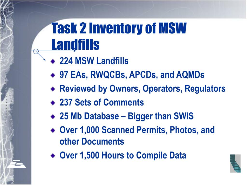 Task 2 Inventory of MSW Landfills