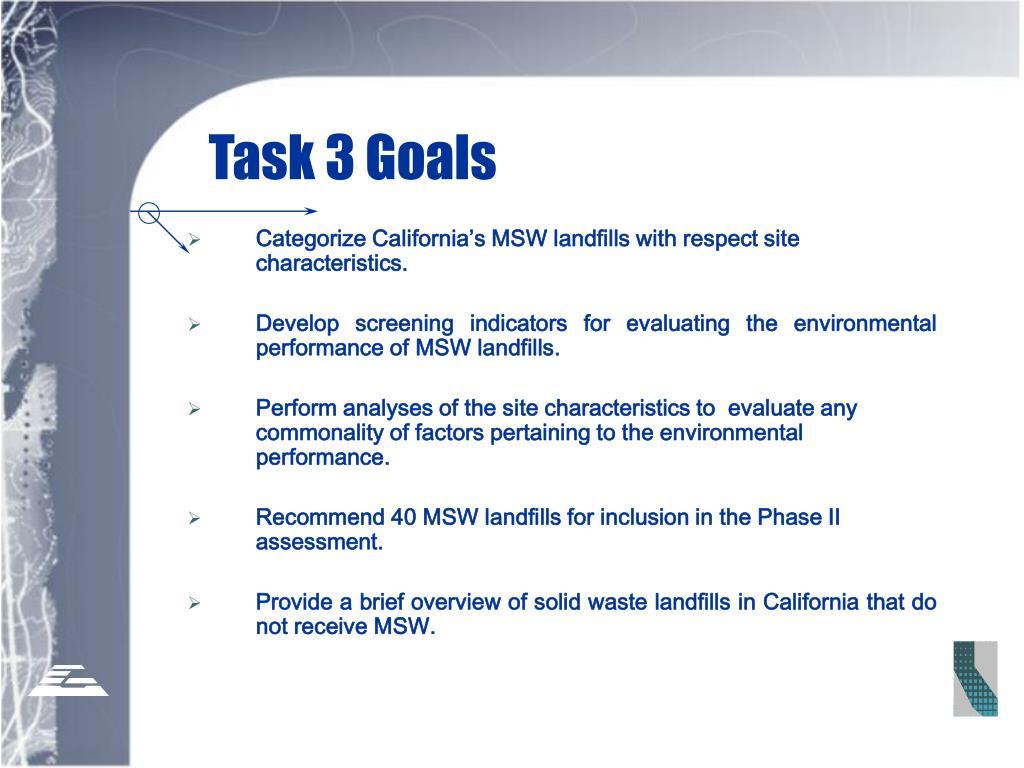 Task 3 Goals