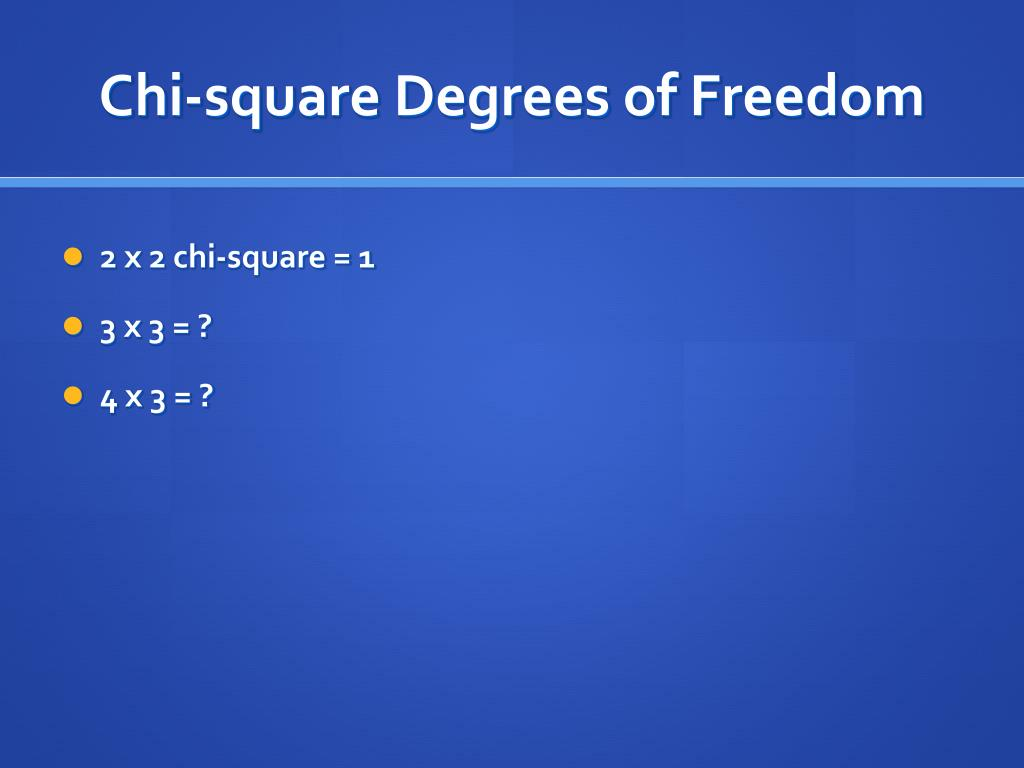 Chi-square Degrees of Freedom