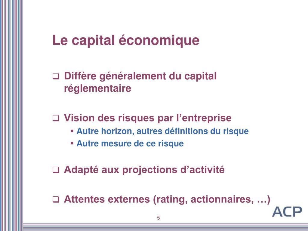 Le capital économique