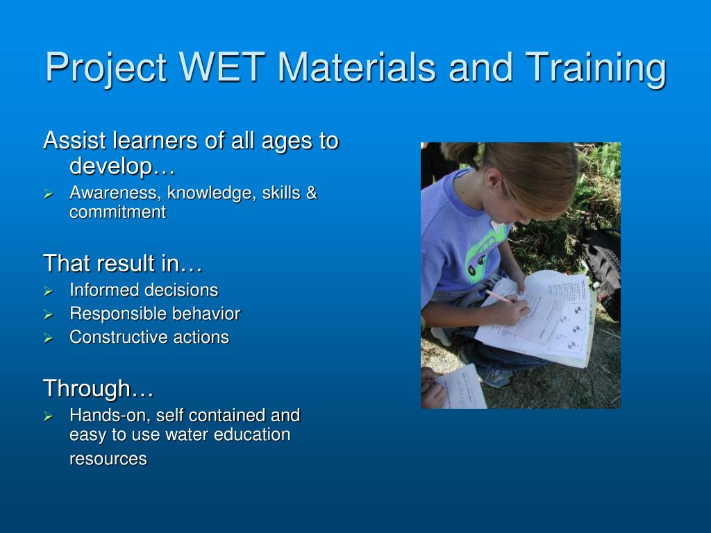 Project WET Materials and Training