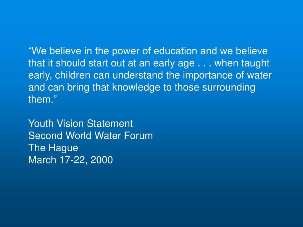 """""""We believe in the power of education and we believe"""