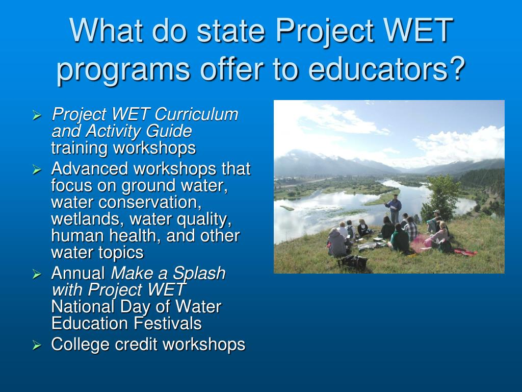 What do state Project WET programs offer to educators?