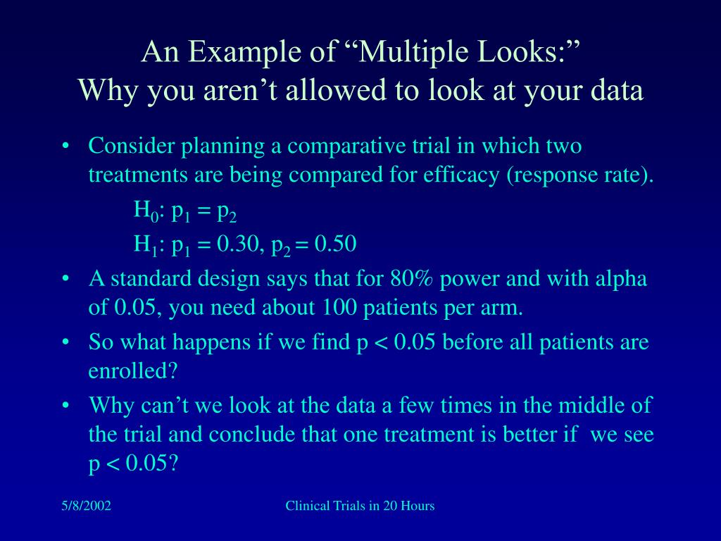 """An Example of """"Multiple Looks:"""""""