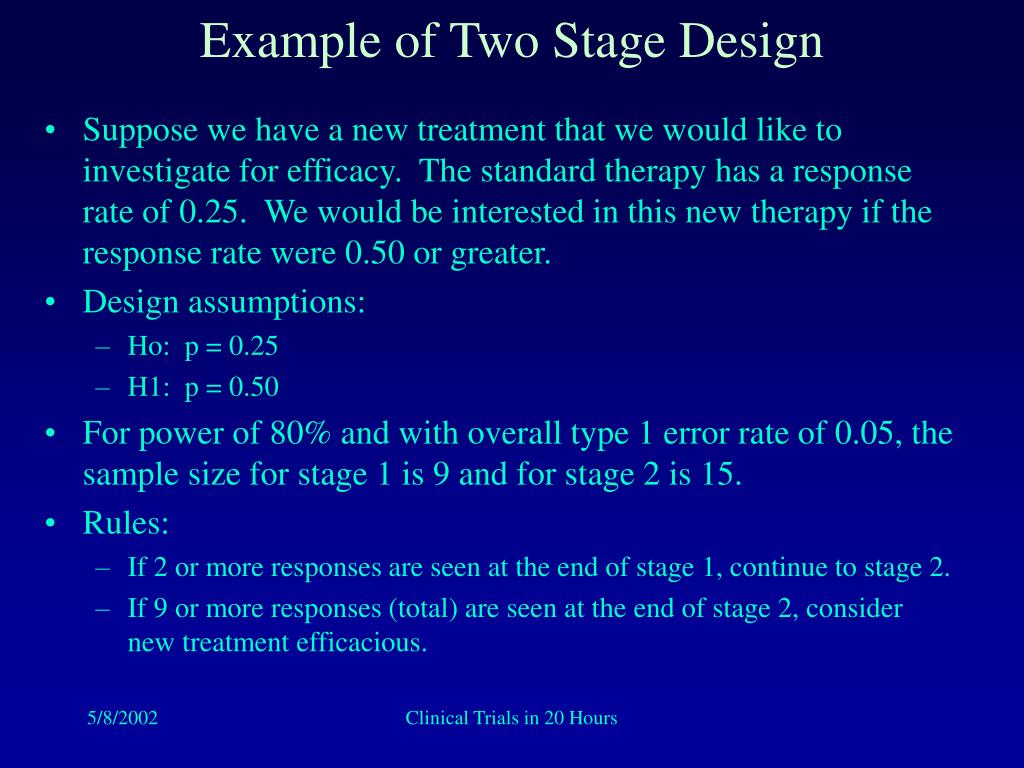 Example of Two Stage Design