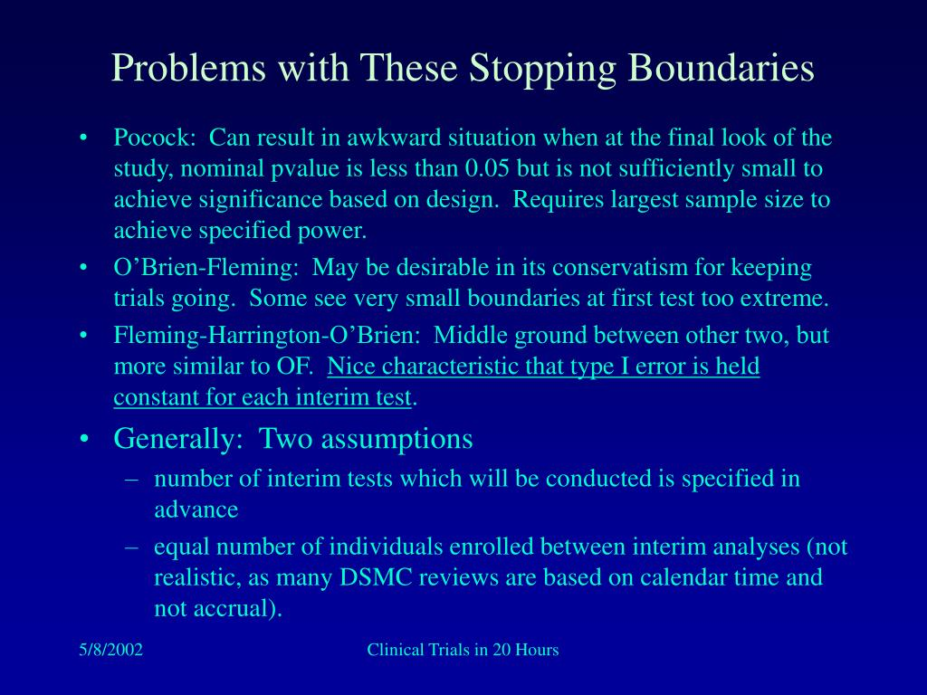Problems with These Stopping Boundaries