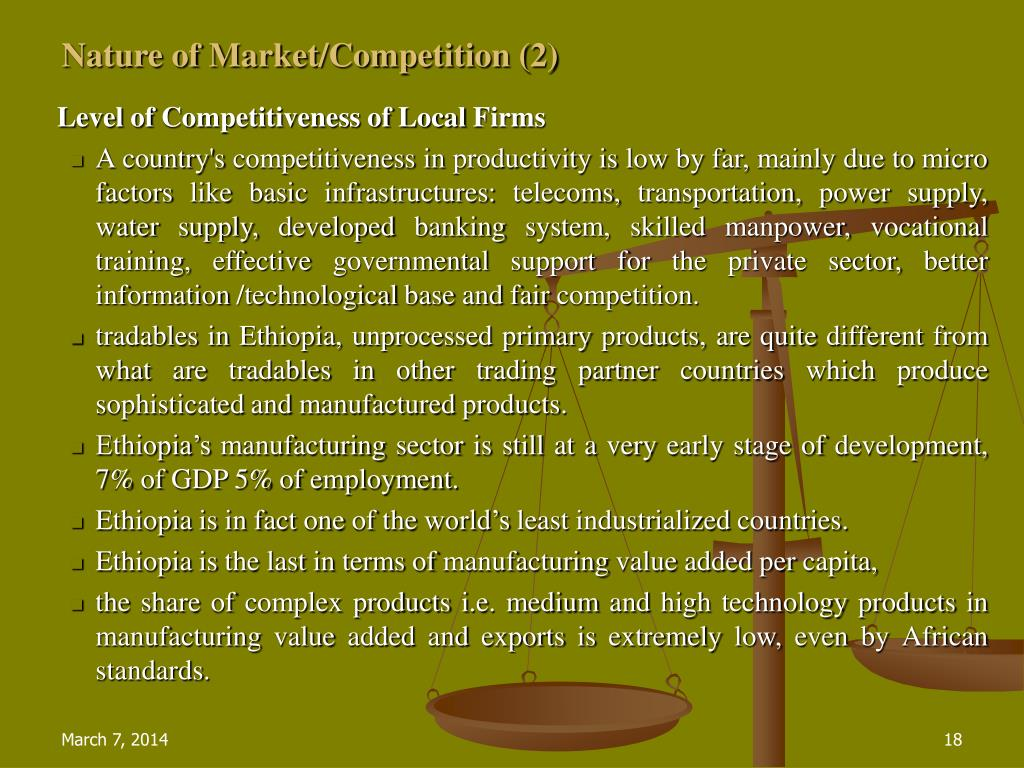 Nature of Market/Competition (2)