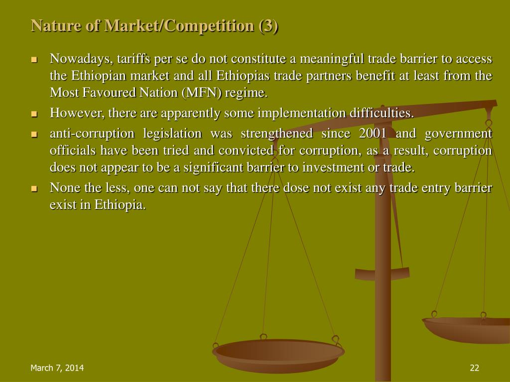 Nature of Market/Competition (3)