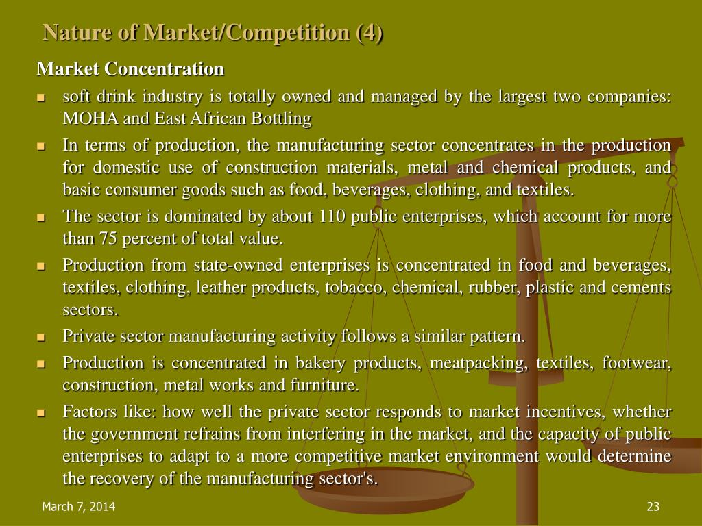 Nature of Market/Competition (4)