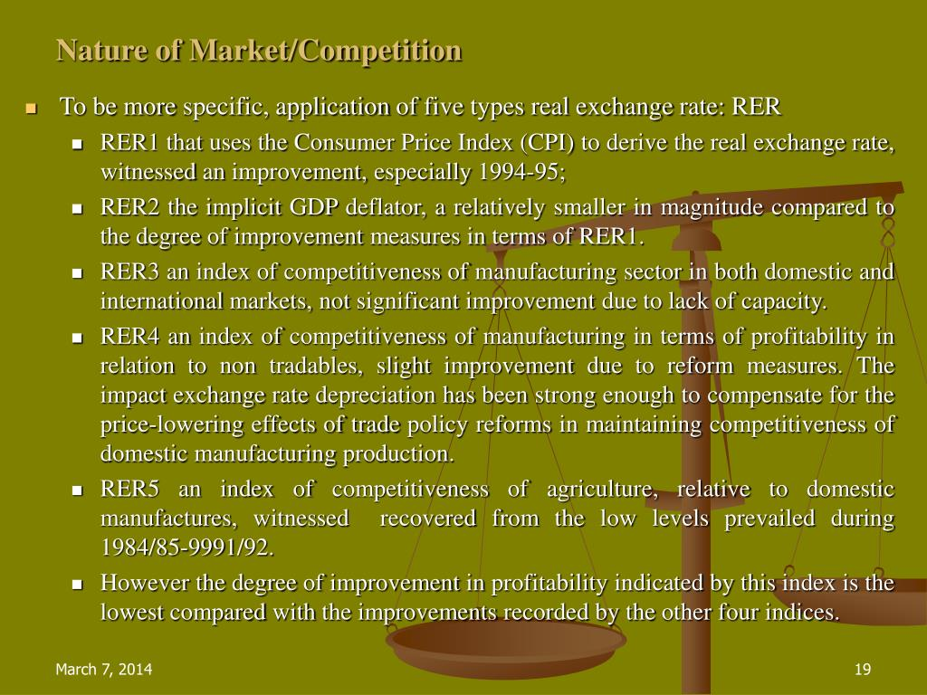 Nature of Market/Competition