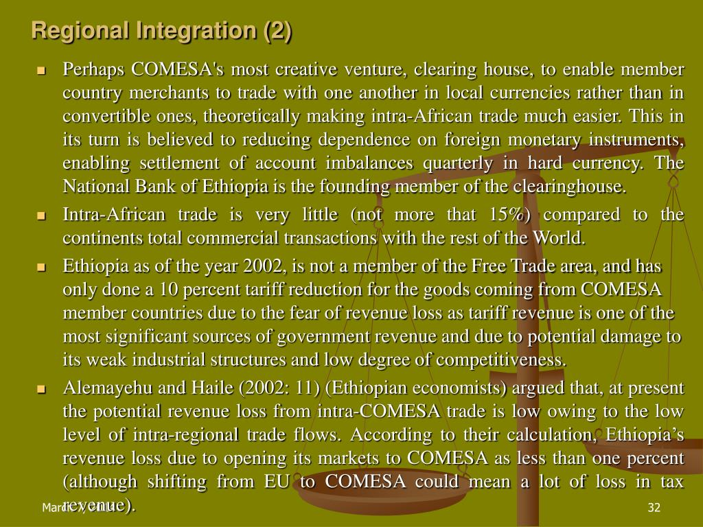 Regional Integration (2)