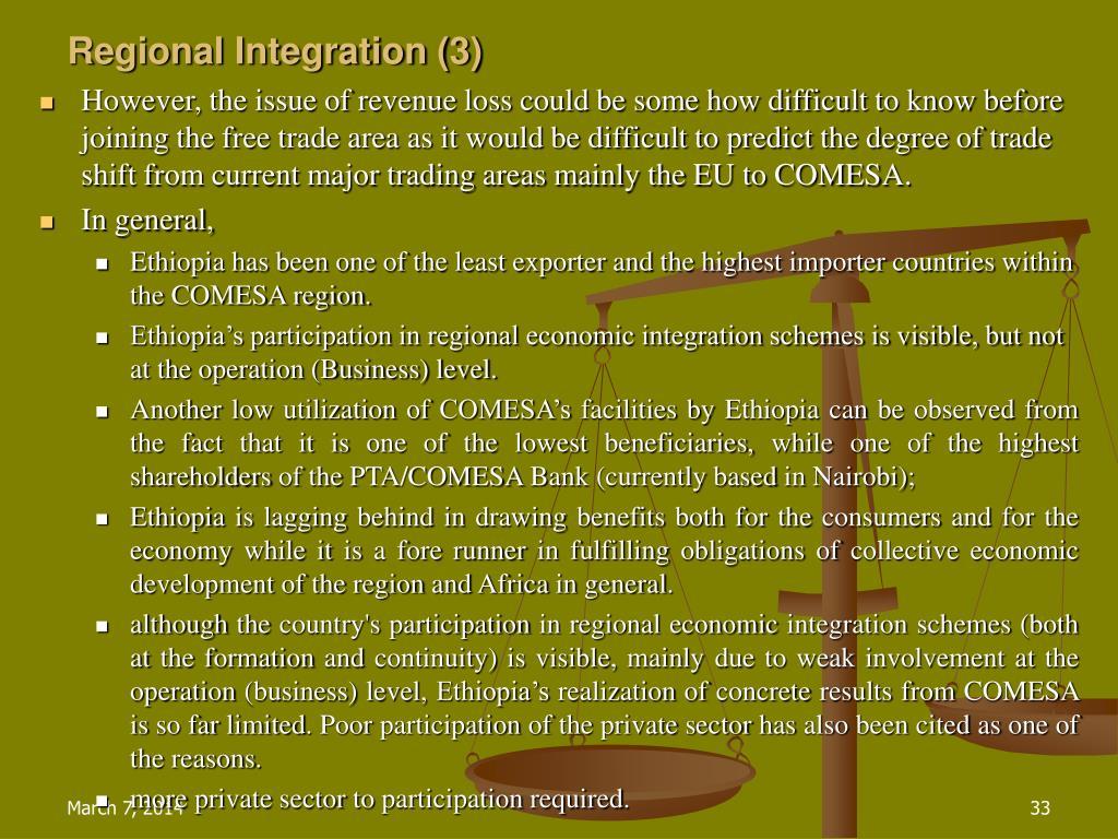 Regional Integration (3)