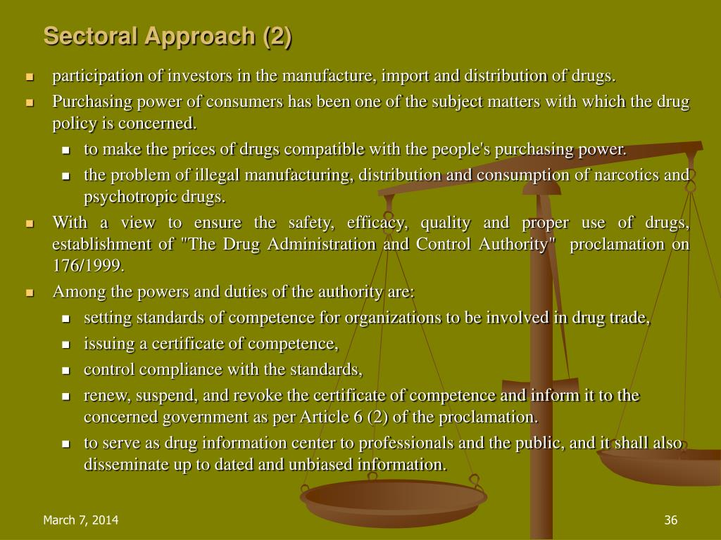 Sectoral Approach (2)