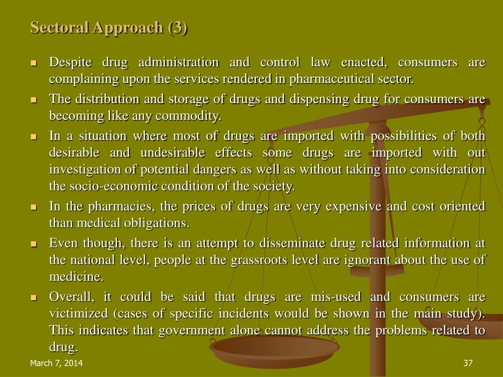 Sectoral Approach (3)