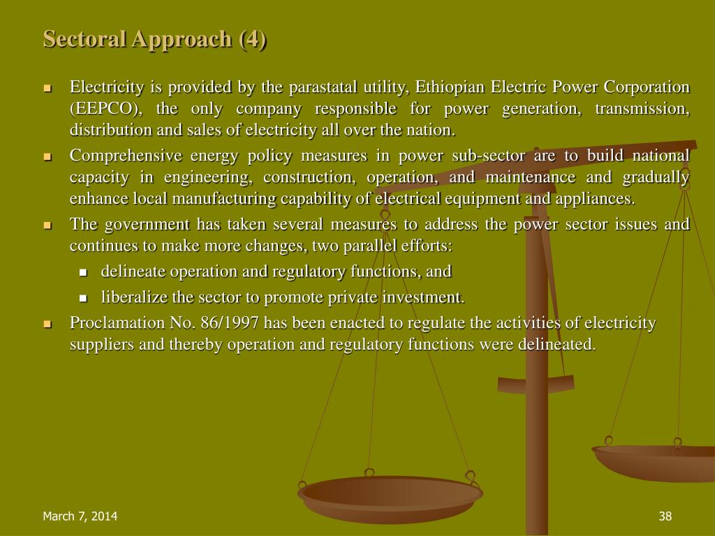 Sectoral Approach (4)