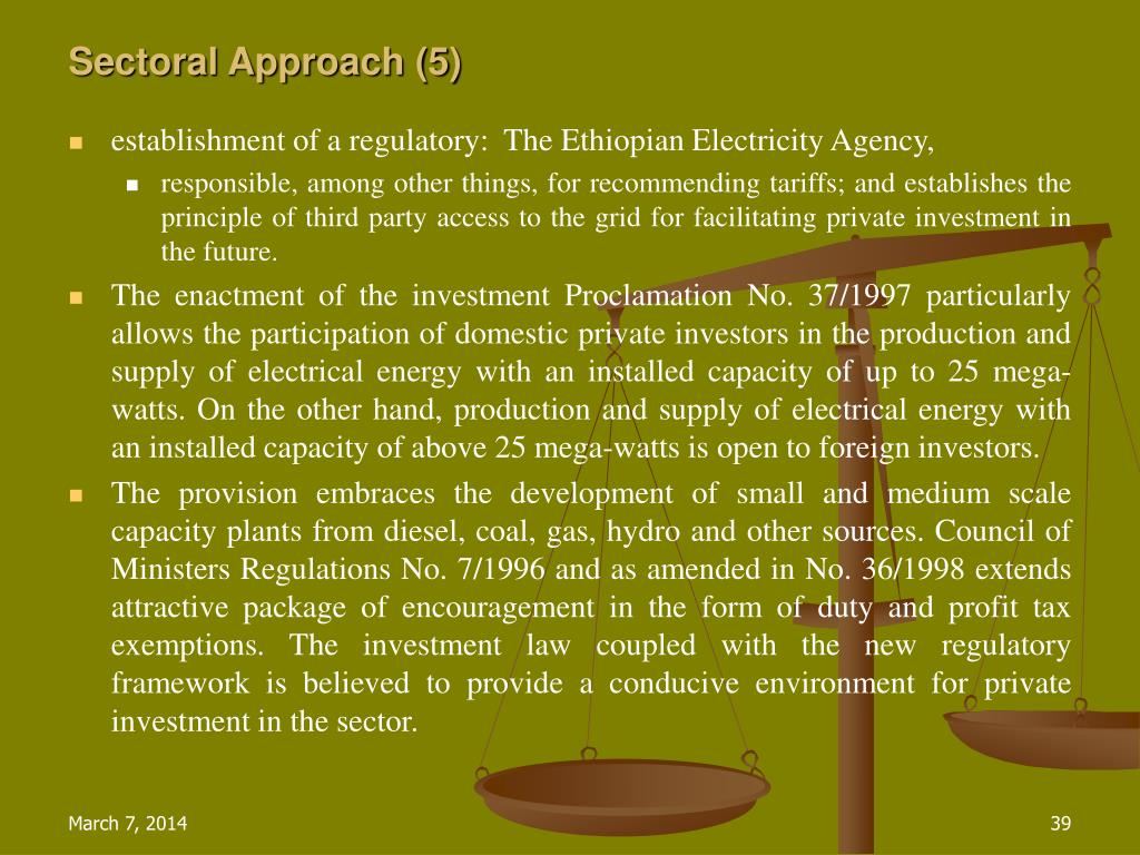 Sectoral Approach (5)