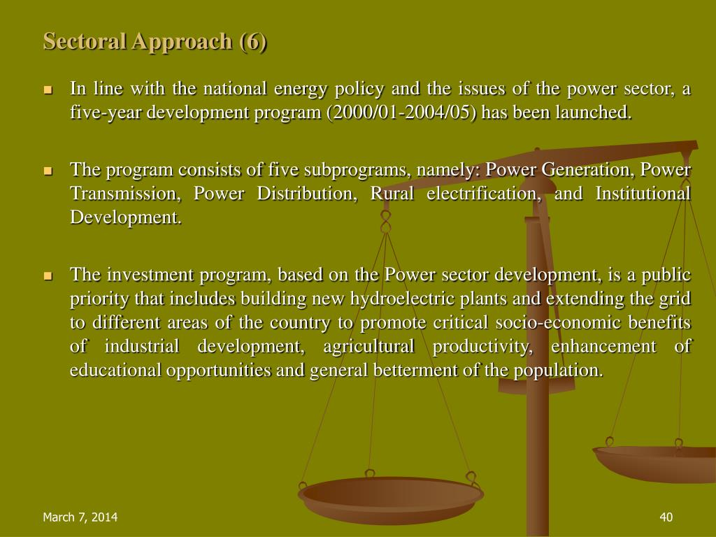 Sectoral Approach (6)
