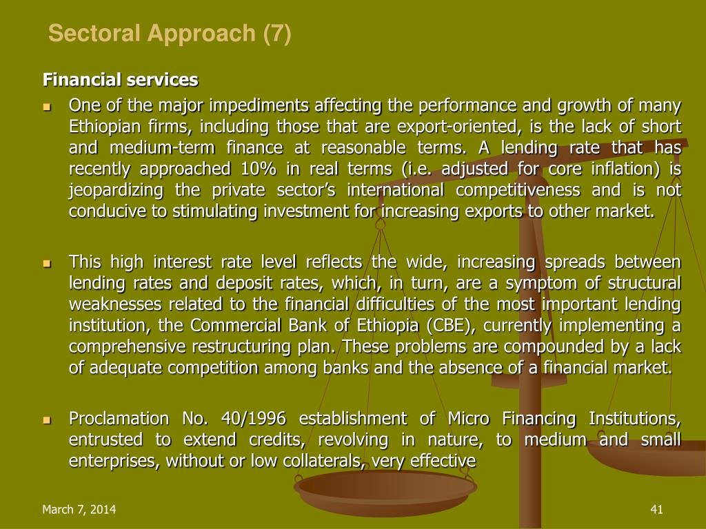 Sectoral Approach (7)