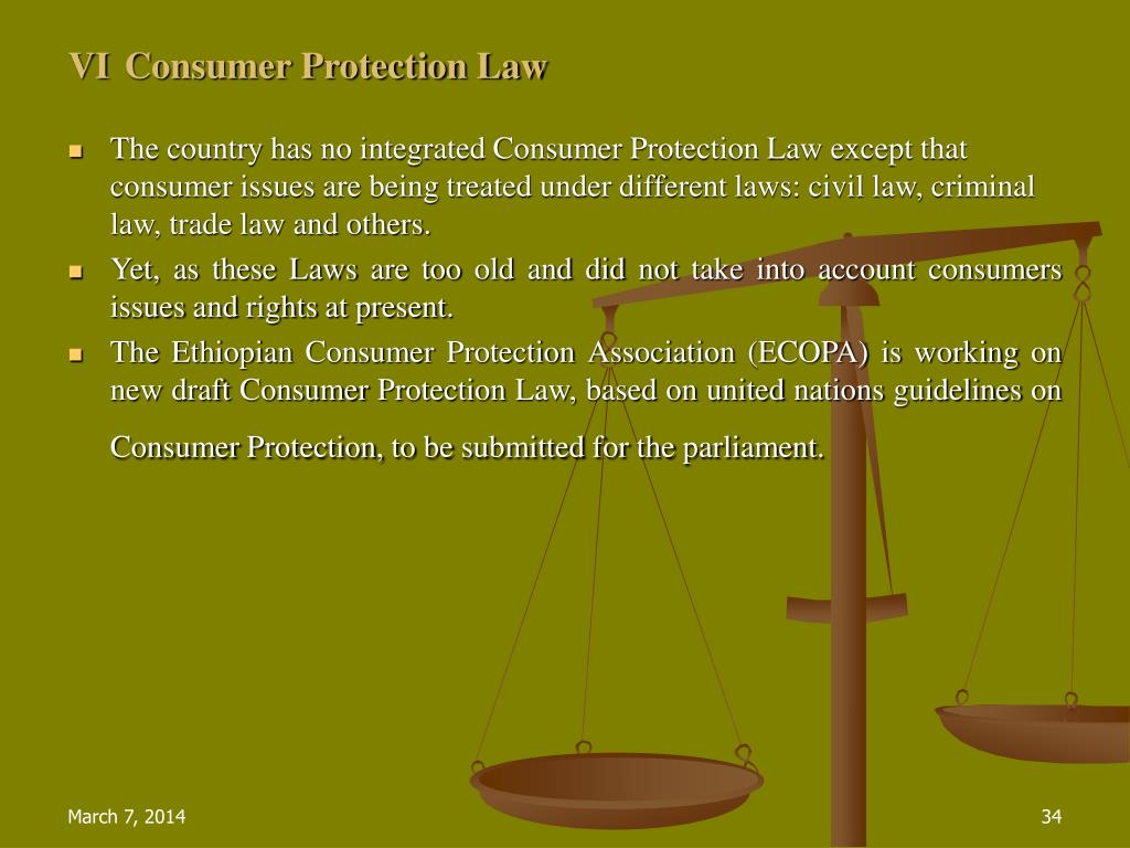 VIConsumer Protection Law