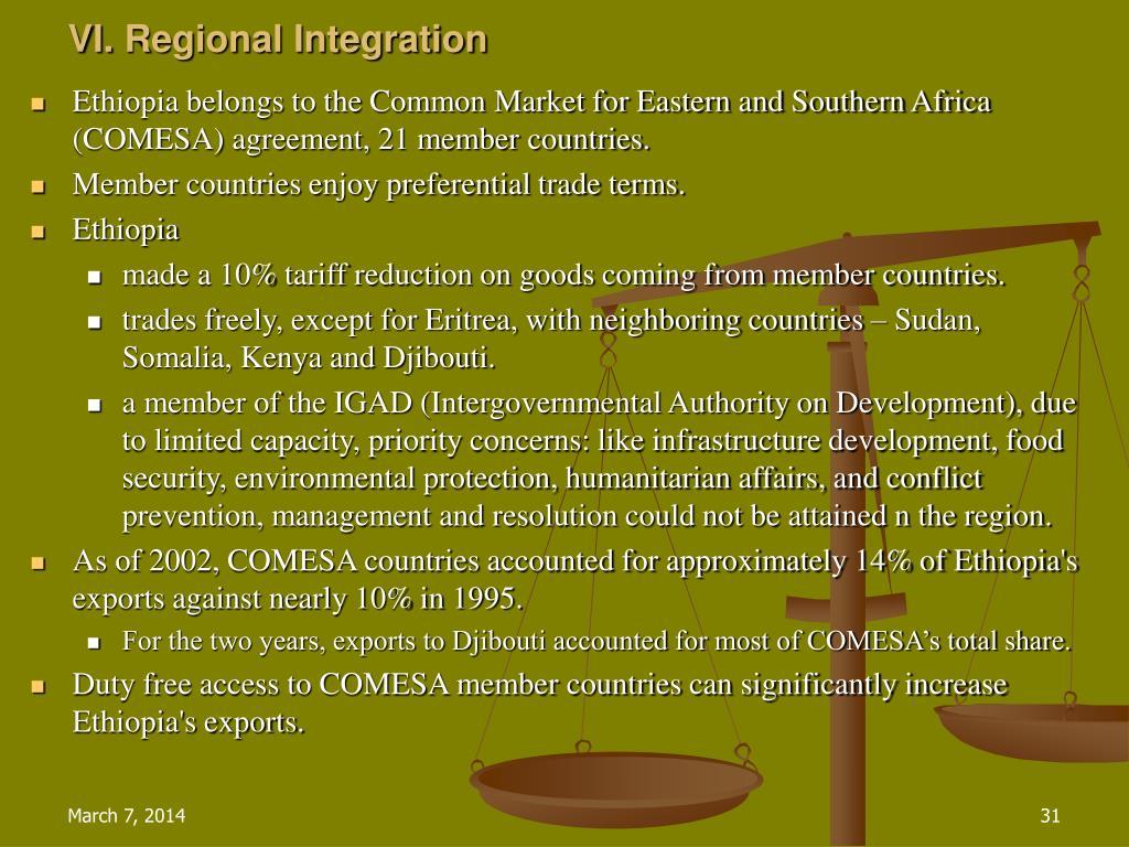VI.Regional Integration