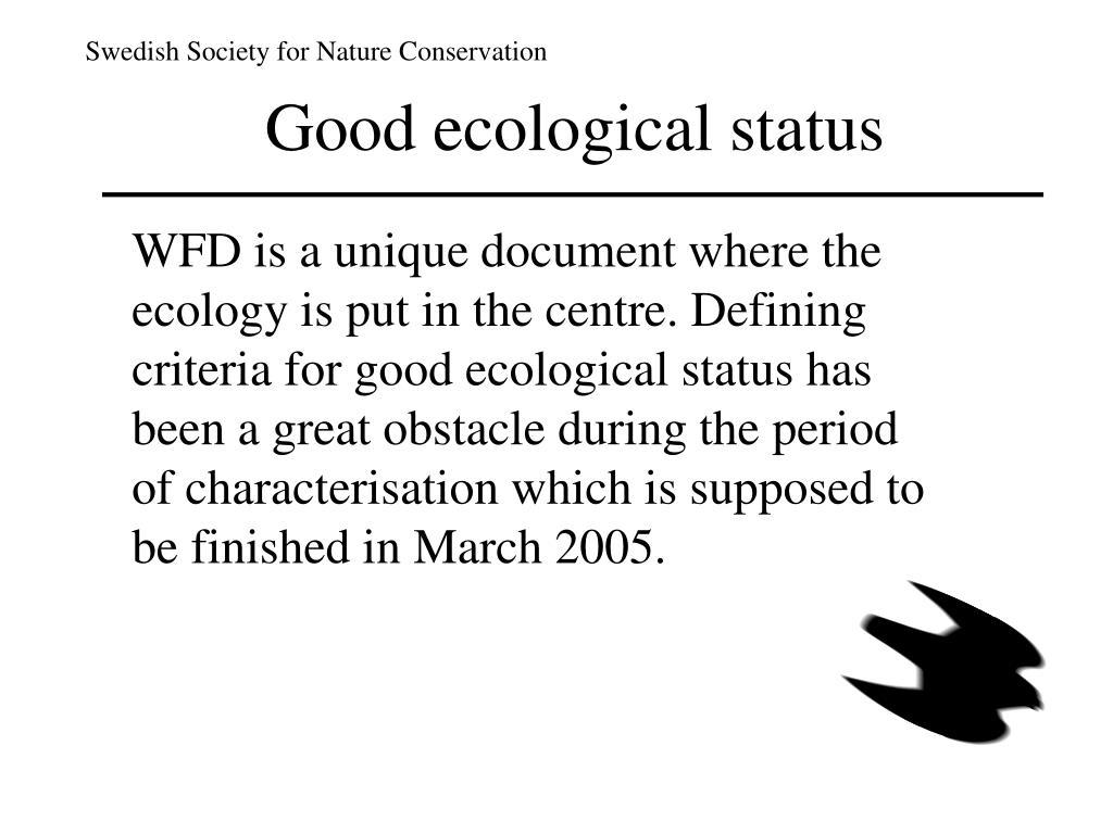 Good ecological status